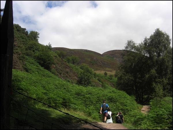 auf der Wanderung zum Conic Hill in Schottland