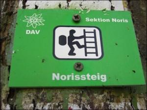 Wanderzeichen Norissteig