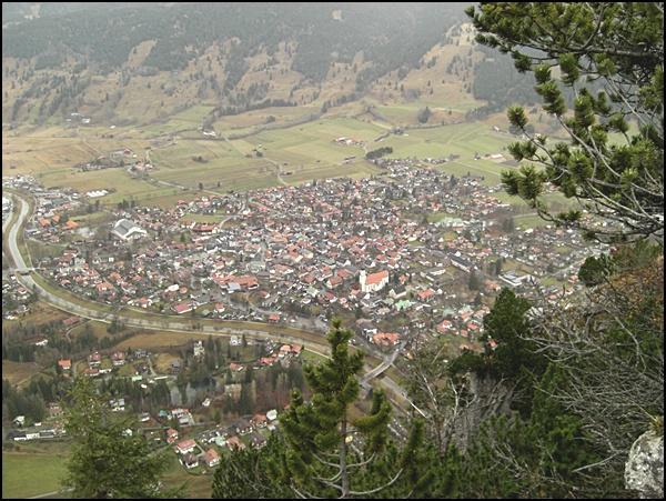 Oberammergau aus der Luft