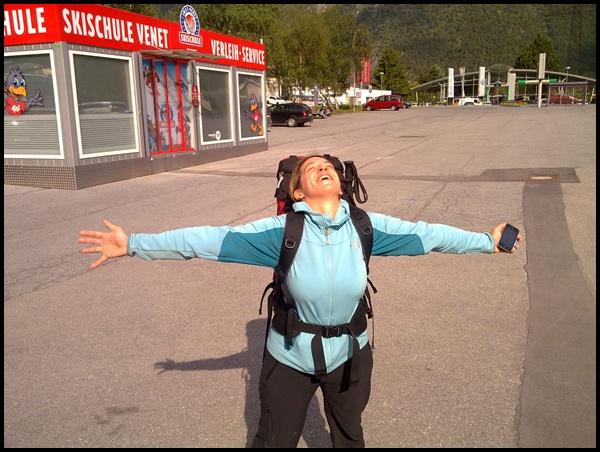 in Zams, Alpenüberquerung E5 von Oberstdorf nach Meran