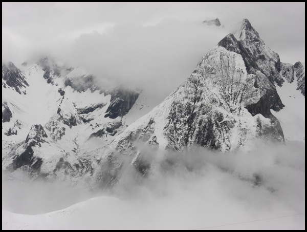 Berge an der Memminger Hütte E5 Alpenüberquerung