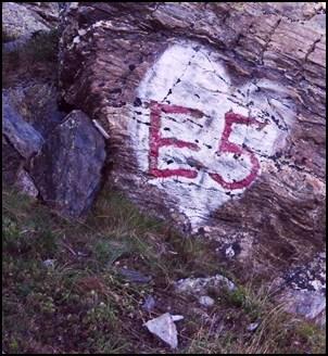 E5 Wegmarkierung