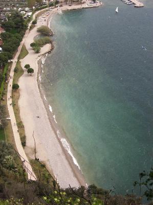 Blick vom Monte Brione auf den Gardasee