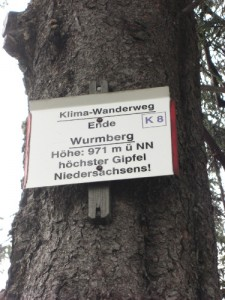 Wurmberg in Niedersachsen, einer der 16 summits