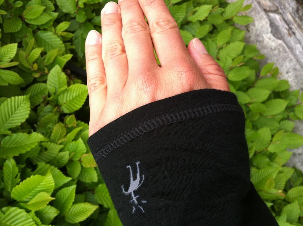 Smartwool Funktionsshirt an der Hand
