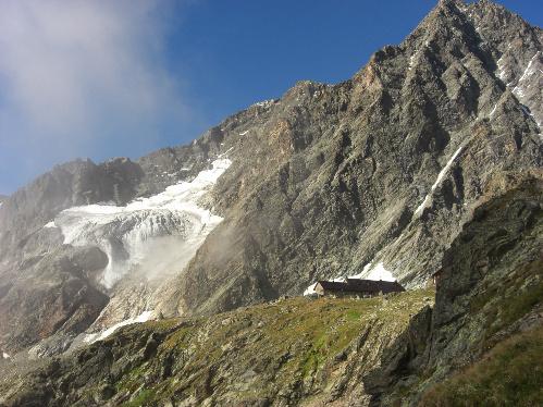 Kaunergrathütte am E5 Alpenüberquerng