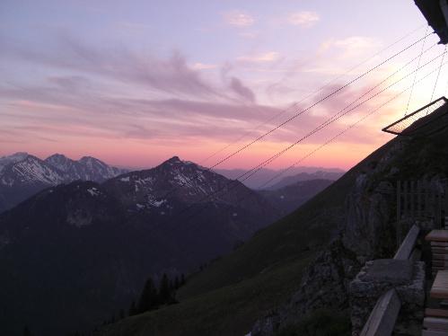 Sonnenuntergang Tannheimer Tal