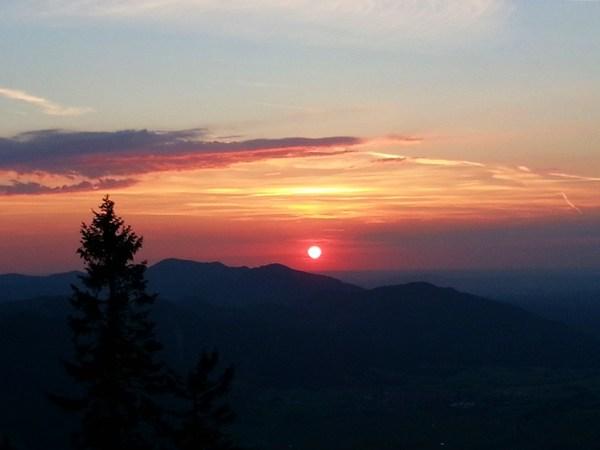 Laber 2015: Sonnenuntergang kurz vor dem Gipfel