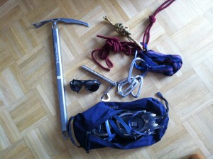 Ausrüstung Gletscherkurs