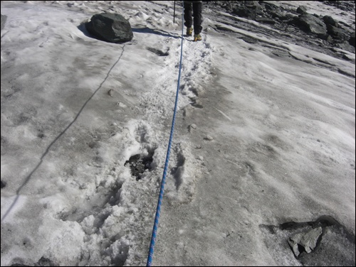 Seilschaft am Gletscher