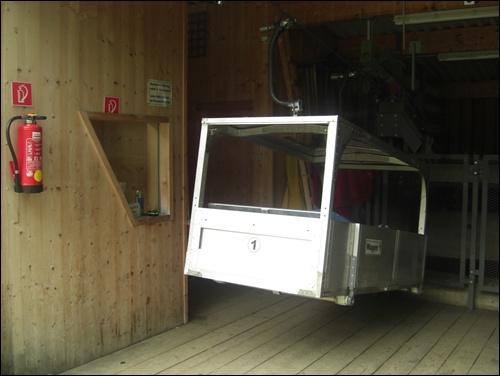 Materialseilbahn zur Stüdlhütte