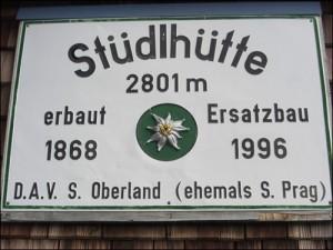 Schild Stüdlhütte
