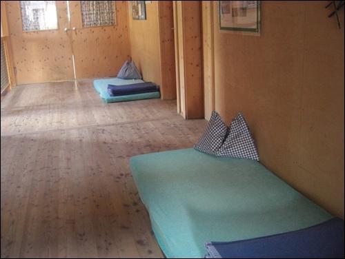 Matrazenlager Berghütte