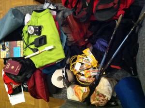 Gepäck für Nepal