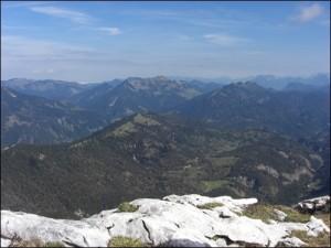 Gipfelblick vom Guffert
