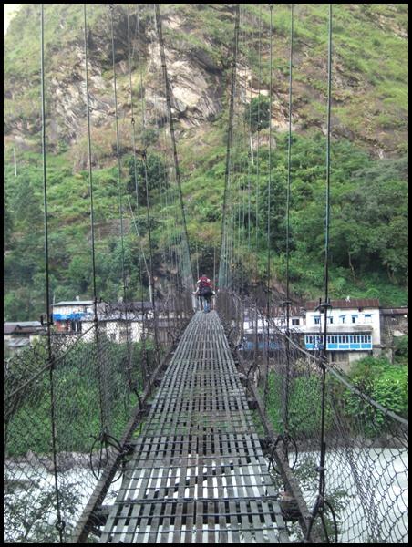 Hängebrücke Annapurna Runde Nepal