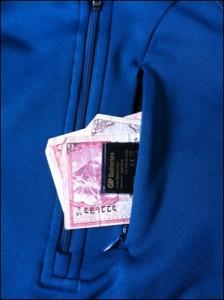 Fleecepulli Taschen