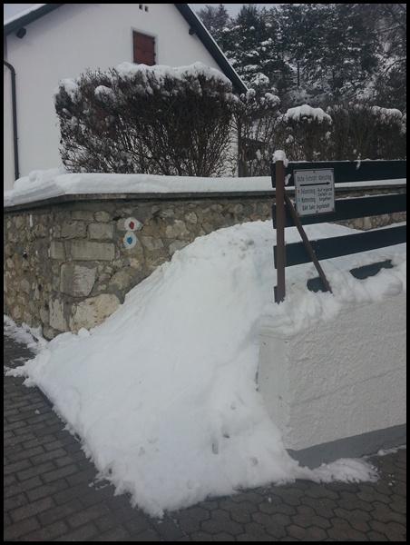 Weg in Konstein Altmühltal