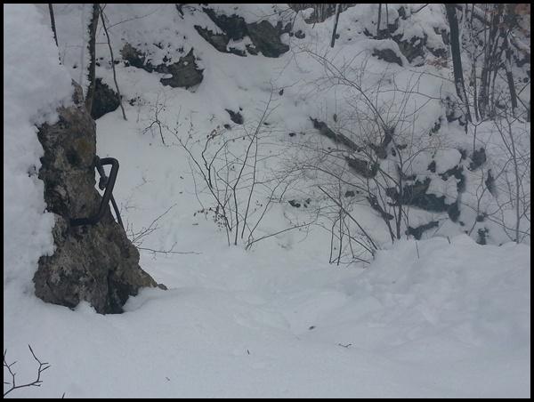 Winter Klettersteig Altmühltal