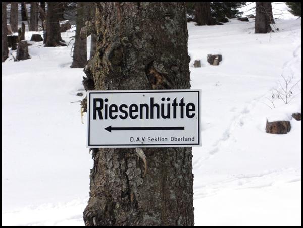 Weg zur Riesenhütte
