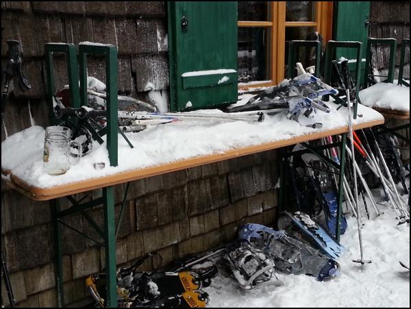 Schneeschuh-Parkplatz
