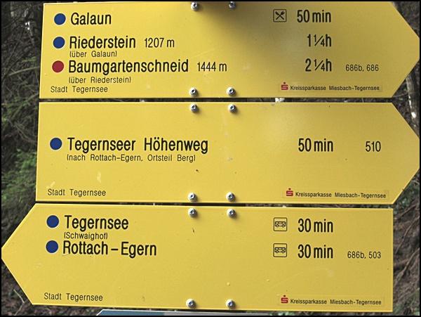 Wanderwegweiser in Bayern