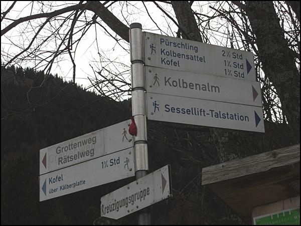 Wegweiser in den Ammergauer Alpen