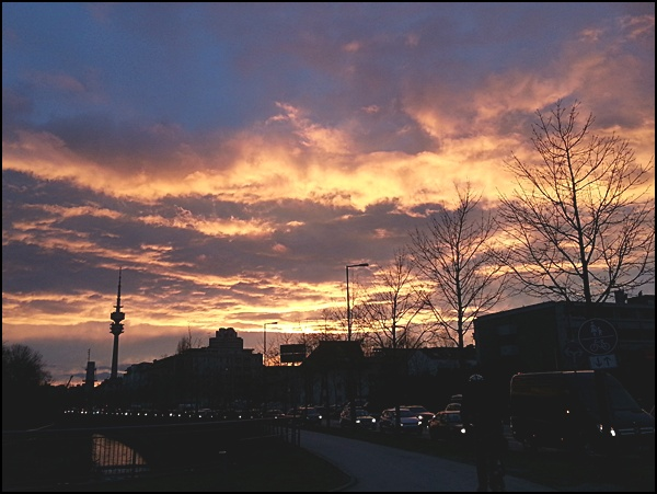 Sonnenuntergang Petuelpark