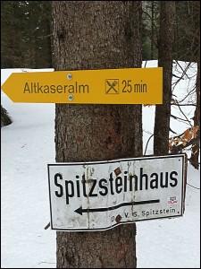 Wanderschilder im Chiemgau