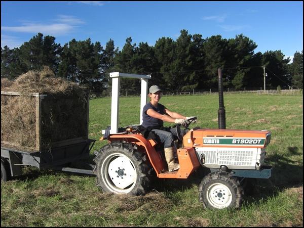 Traktor fahren in Neuseeland
