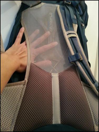 Rucksack-Rücken-Lüftung