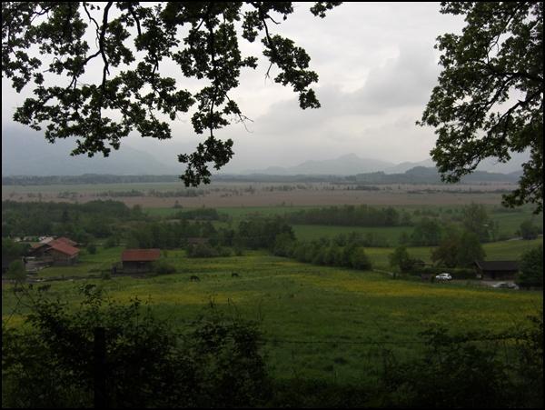 Blick von Murnau aufs Moos