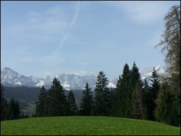 Alpen im Fruehling