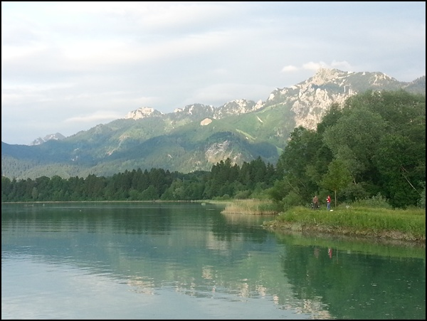 Forggensee am Abend