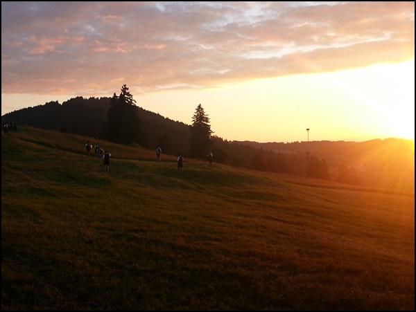 Sonnenuntergang bei Füssen