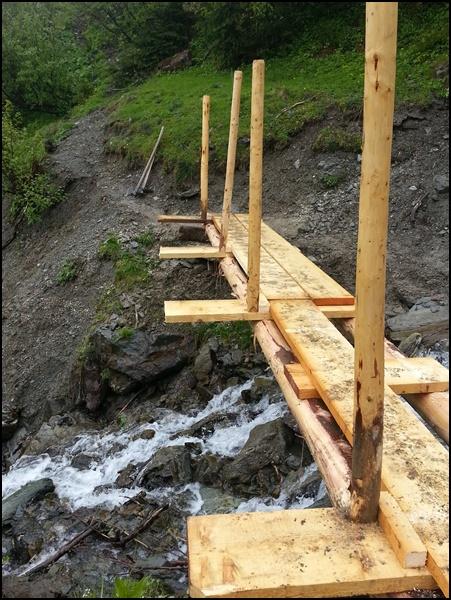 Rohbau der Brücke