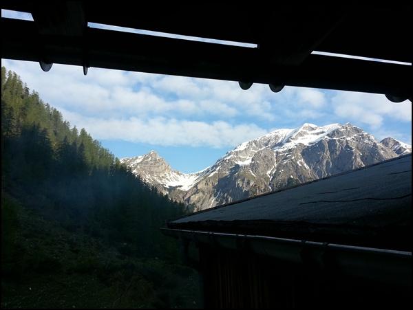 Balkonblick Karwendel