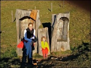 Ute und ihr Zwerg am Berg