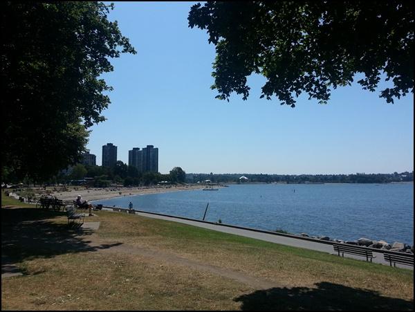Innenstadt von Vancouver und English Bay