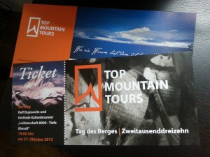 Tickets Tag des Berges