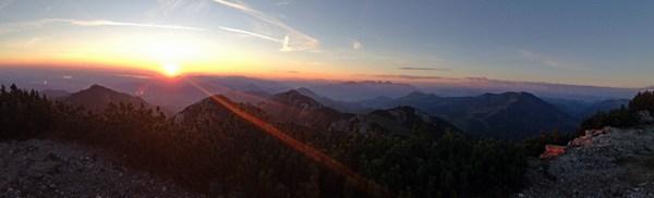 Wendelstein von der Siglhütte aus in Morgenstimmung