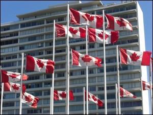 Kanada Fahnen in Vancouver