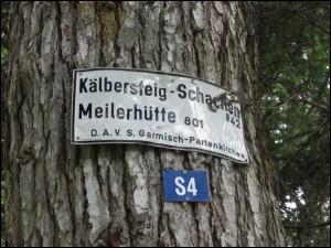 Wanderschild Meilerhütte Schachen