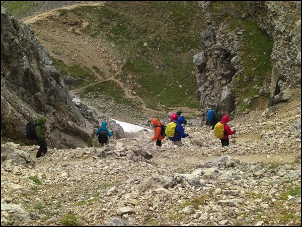 Abstieg von der Meilerhütte
