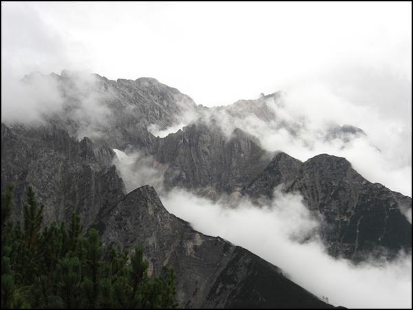 Blick vom Schachen aufs Wettersteingebirge