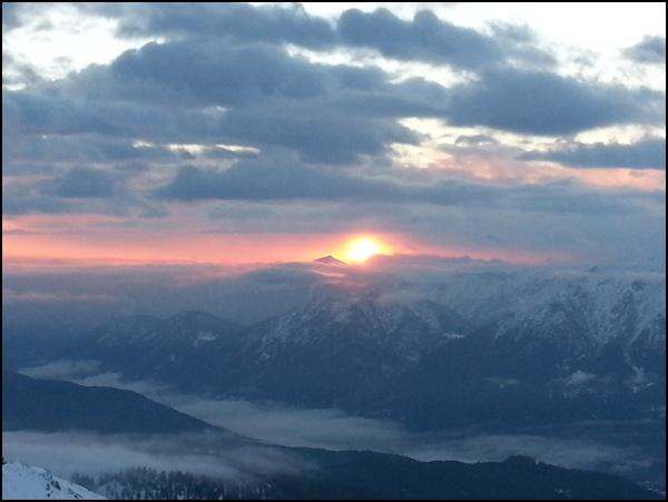 ... und Sonnenaufgang...
