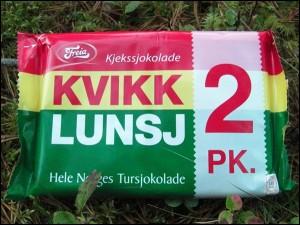 Wanderschokolade in Norwegen
