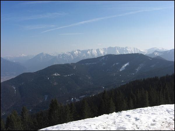 Blick vom Hörnle auf die Alpen