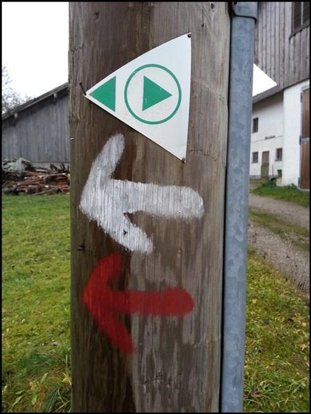Wanderweg-Markierung