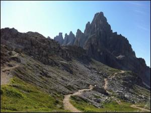 Blick auf den Paternkofel Südtirol